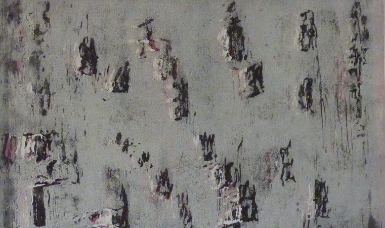 Ein Holzschnitt in grau von Heidemarie Fruth