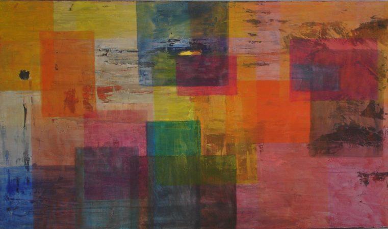 Klangflaechen Serie 1-II, 60 x 105 cm