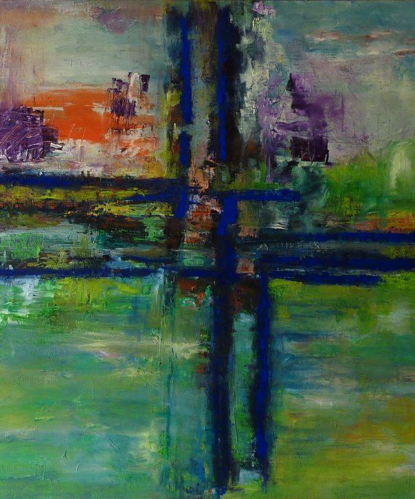 Bild Kreuz III , Öl auf LW. 100 x 100 cm, 2015