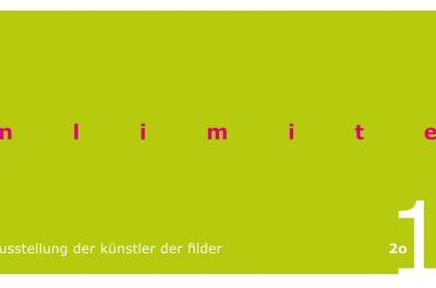 Flyer der Jahresausstellung 2019 Am Limit / Unlimited der Künstler der Filder