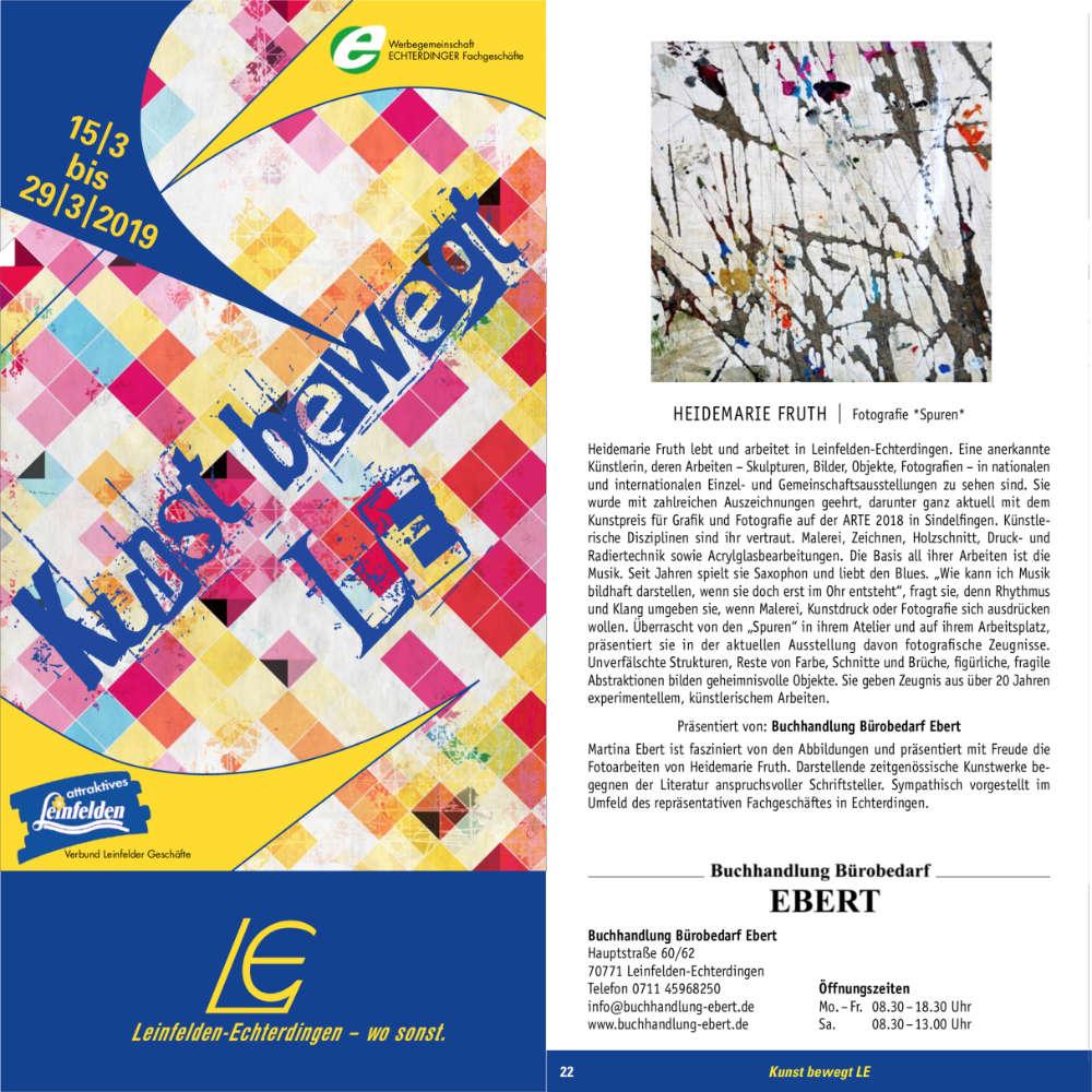 Titelbild und Auszug aus der Broschüre Kunst bewegt LE