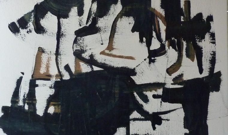 en avant la musique III, 120 x 100 cm, ÖL auf BW, 2014